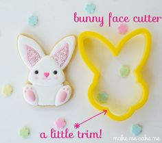 Bunny cookie upside down bunny face cutter