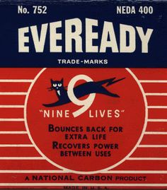 Eveready Batteries Vintage Label