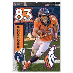 "Denver Broncos Wes Welker 11""x17"" Multi-Use Decal Sheet"