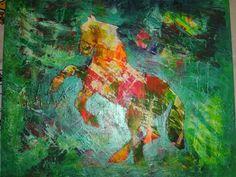 Acrylmaleri Heste