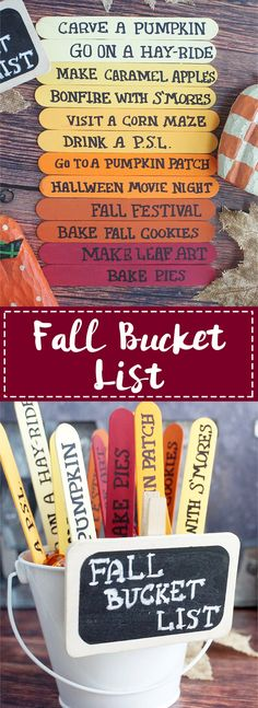 The Perfect Fall Bucket List - A DIY project that is also a fun fall activities bucket list.