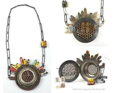 A wonderful metal necklace / locket  by artist Kat Cole. Some unique and very interesting work. see more...  http://www.colemetalworks.com/Welcome.html