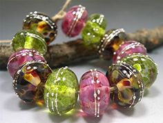 Lampwork Beads by Donna Millard ROSEWOOD by DonnaMillard on Etsy, $45.00