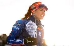 Scarica sfondi Gabriela Koukalova, globo di cristallo, il biathlon, il 4k, portrait, sorriso, Gabriela Soukalova