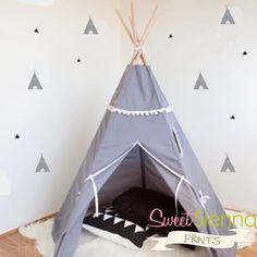 teepee wall decals: for a focal wall