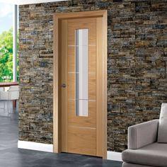 Zaragosa oak door with frosted safety glass safety glass for 1 panel inlaid oak veneer door