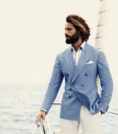 Pal Zileri - mens fashion.  Love a light blue blazer.  Nautical..yes please!