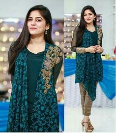 List Of Top 3 Sanam Baloch Morning Shows Pakistani Dress Design, Pakistani Dresses, Indian Dresses, Indian Outfits, Beautiful Dresses For Women, Pretty Dresses, Girl Fashion, Fashion Dresses, Dress Picture