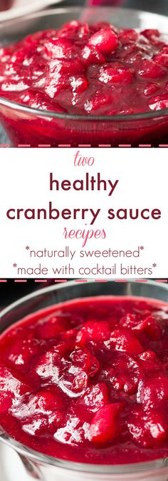 Find the yin to your turkey's yang this Thanksgiving with these two healthy cranberry sauce recipes. One dark. One light. Naturally sweetened with added complexity from my favorite cocktail bitters. MUST try. Vegan and gluten free.
