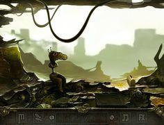Fun flash game Droid Land