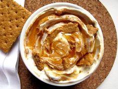 Greek Yogurt, Peanut Butter, Honey & Graham Cracker Dip.  Yum.
