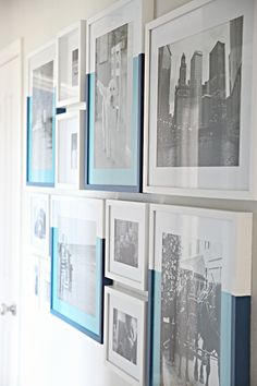 IHeart Organizing: Dipped Frame Gallery Wall