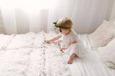 Boho baby girl, floral crown. Newborn & Baby Photographer, Buckinghamshire, UK
