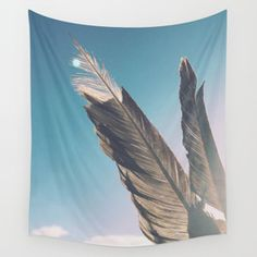 Brown Feathers Wall Tapestry