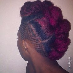 This #updo is all kinds of dop. #naturalhair #afrihair