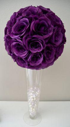 465d9d9af Purple flower ball PURPLE WEDDING CENTERPIECE Purple Cumpleaños De  Princesa, Ramos De Novia, Fiesta