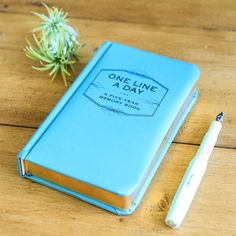 One Line A Day Five Year Diary Or Memory Book by Berylune, the perfect gift for Explore more unique gifts in our curated marketplace.