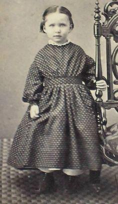 Civil War Era CDV Photo of Little Girl Big Chair Rev Stamp | eBay