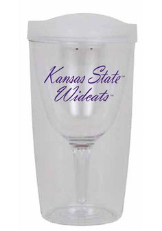This could not be ANYMORE PERFECT!!! Ksu Wildcats Wine To Go Tumbler