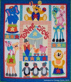 Toytime Circus - by Kookaburra Cottage Quilts - BOMSECONDARY_SECTION$69.00: Fabric Patch: Patchwork Quilting fabrics, Moda fabric, Quilt Supplies,�Patterns