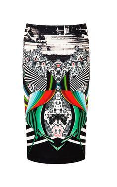 Neoprene Swirl Scarf Skirt by Clover Canyon - Moda Operandi