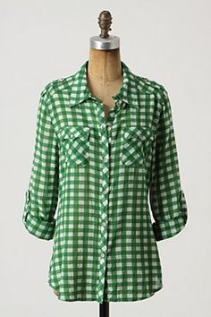 A green checkered top at Anthro. Yes, pleeeease! $88