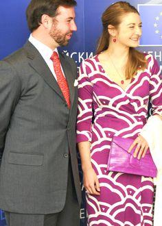 asdfjkl-royal:  Hereditary Grand Duke Guillaume and Hereditary Grand Duchess Stephanie