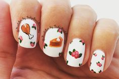 Instagram photo by: @NailArt_by_LadyBirdBoutique  Happy Thanksgiving! #nails#nailart Thanksgiving nails