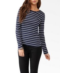 Long Sleeve Striped Top | FOREVER21 - 2030186849