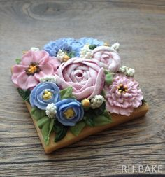 Bouquet on a cookie   Cookie Connection
