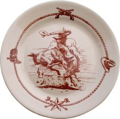 Great stoneware western plate.  This can be found at the facebook page for Into The Territory.