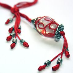 Red Necklace  Free Shipping  Unique elegant by OnlyBiju on Etsy
