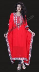 Aesthetic #Red #Salwar #Kameez Style #Kaftan