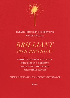 Red by Paperless Post. Customize one of hundreds of online birthday party invitations. With RSVP tracking. View more designs on paperlesspost.com