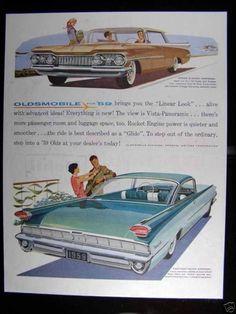 1959 OLDSMOBILE 88 HOLIDAY SPORT SEDAN VINTAGE PRINT AD