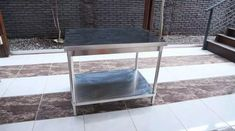 Meja Dapur Stainless Steel Murah Ukuran 100 x 70 x 80 cm Entryway Tables, The 100, Stainless Steel, Furniture, Home Decor, Decoration Home, Room Decor, Home Furnishings, Arredamento