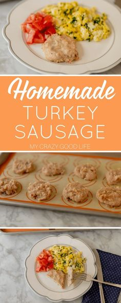 Homemade turkey sausage is a great way to start the day. It is packed with protein and the recipe is quick and simple. If you've never made homemade sausage this is a great place to start! 21dayfix Recipes, Ww Recipes, Lunch Recipes, Fixate Recipes, Zone Recipes, Turkey Recipes, Homemade Turkey Sausage, Homemade Sausage Recipes, 21 Day Fix Diet