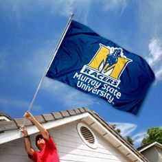 Murray State Racers University Large College Flag.   You best bet my house is gonna have this!!(: