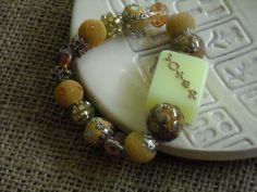 Yellow and Gold Mahjong Bracelet - Jesse James Beads Jewelry - Mahjong Jewelry by MahjongJewelry on Etsy