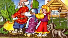 Fairy tales for kids, folk tales, children fairy tales. Grandpa planted a turnip. The turnip grew bigger and bigger. Grandpa came to pick the turnip, pulled . Stories For Kids, S Stories, Lion And The Mouse, Story Sequencing, Fairy Tales For Kids, Russian Folk, Dramatic Play, Nursery Rhymes, Farm Animals
