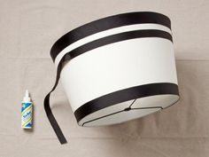 Create a striped lampshade with this how-to from <i>HGTV Magazine</i> and DIY blogger Typhanie Peterson.
