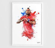 Arturo Vidal Chile Copa America Centenario  A3 Wall Art Print