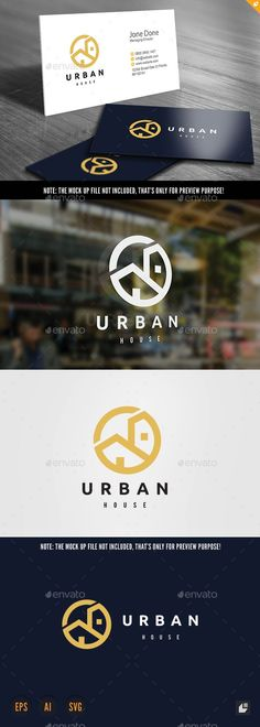 Urban House EPS Logo Template • Only available here ➝ http://graphicriver.net/item/urban-house-logo/16793000?ref=pxcr