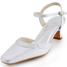 EP11033 Women Ivory Square Toe Middle Heel Rhinestones Buckle Satin Wedding Shoes US 4 Elegantpark,http://www.amazon.com/dp/B00AXX5J8C/ref=cm_sw_r_pi_dp_BQV1sb0BBSY2G5N7