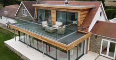 Roof extension, Flat roof and Balconies on Pinterest