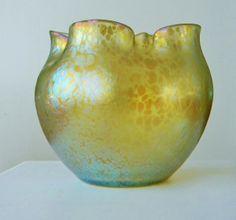 Loetz Candia Papillon  Iridescent Vase Bowl