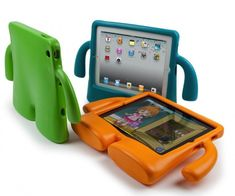 Saw a 2-3 year old with one of these in church - great idea if you have toddlers who like iPads