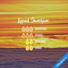 Liquid Sunshine — Essential Oil Diffuser Blend