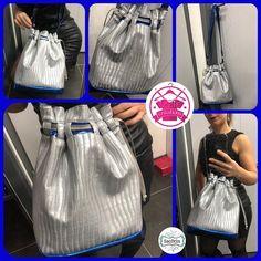 Izzie créations sur Instagram: Sac Calypso en simili cuir gris métal et bleu électrique 😍 #izziecréations #sac #sacamain #sacbandouliere #sacbandoulierereglable #sacotin…