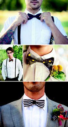 Suspenders and bow tie! Wedding attire possibilities!